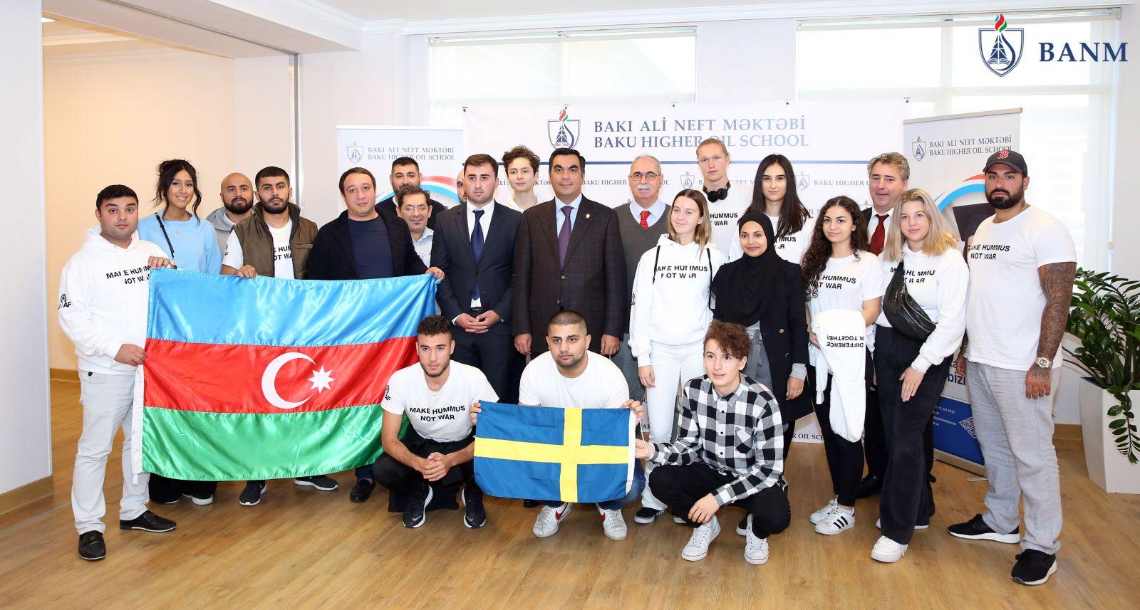 Bhos Representatives Of Swedish Youth Organization Visited Baku Higher Oil School